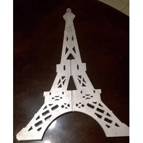 Corte Laser Mdf Torre Eiffel Eifel Recuerdo Centro De Mesa