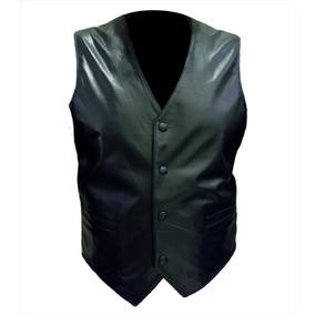 Chaleco Cuero Clásico Hombre Vestir