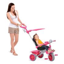 Triciclo Smart Comfort Carrinho Bebe Passeio Rosa Menina
