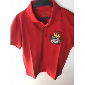 Camisa Polo Ed Hardy Vermelho Christian Audigier Masculina · R  199 cf0ea68ed5c75