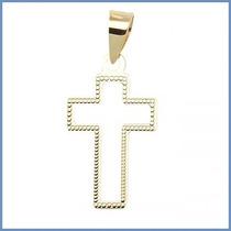 Dije Crucifijo Mod. Hope En Oro Solido 14k Cruz Acc
