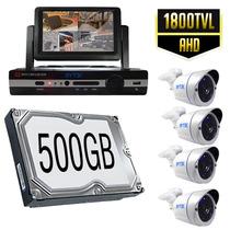Kit Cctv Videovigilancia Circuito Cerrado 4 Camaras Monitor,