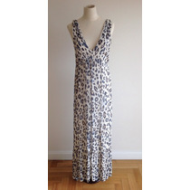 Sale! Clara. Vestido Largo Animal Print (con Detalle). T 38