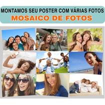Poster Mosaico Em Alta Resolução Com Suas Fotos