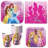 Set Platos Vasos Fiesta Princesas, Hello Kitty, Minnie Mouse