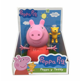 Peppa Pig Y Teddy Set Muneño Rigido Original