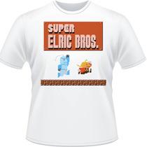 Camiseta Super Elric Bros Mario Full Metal Alchemist Camisa