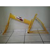 Quadro Bicicleta Tipo Maria Mole Cor Amarelo ( Articulado )