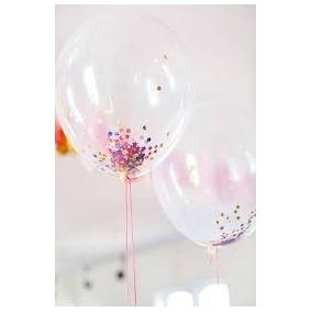globos transparentes x 50 decoracion comunion bautismo - Globos Transparentes