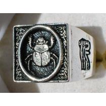 Anillo Egipcio Inmortalidad En Plata Sterling, Ley .925