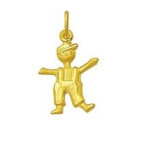 Pingente Menino Com Boné Ouro 18k 750 Com Certificado