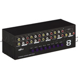 Chaveador / Seletor De Video E Audio Composto Rca Av 8x1