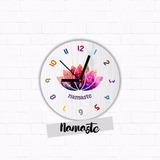 Reloj Moderno Yoga Mandala De Pared 30cm -homaredesign