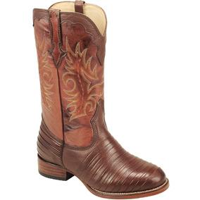 42ea06ad51a3a Bota Cowboy Masculina Texana Silverado Casco De Tatu Couro por Silverado  Botas