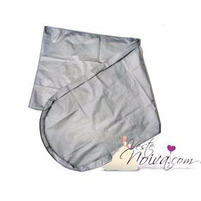 Capa Para Vestido De Noiva Cinza Zíper Elegante 150x58x10 Cm