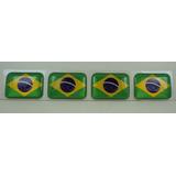 Bandeira Resina Brasil Tarjeta Adesivo Placa 2,3x1,6cm*