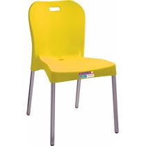 Cadeira Sem Braço Com Pé De Alumínio Cores Paramount