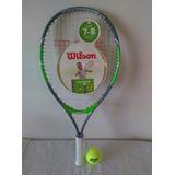 Raqueta Tenis Wilson 23 Con Forro, Pelota Y Envió Gratis