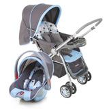 Carrinho + Bebê Conforto System Ts Reverse Luxo Azul - Cosco