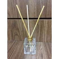 30 Difusores Vidro Cubo 50ml+organzas Brancas 9x12+aromat.