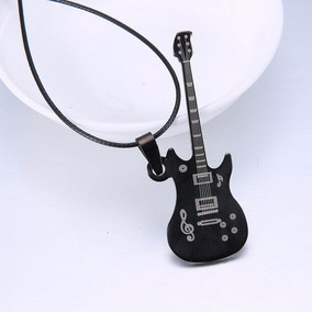 Colar Com Pingente Guitarra Rock