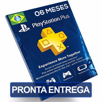 Cartão 100 Reais Psn Br Plus 6 Meses Playstation Brasil