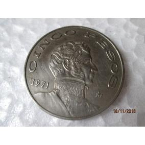 Moeda Cinco Pesos, Estados Unidos Mexicanos, 1971 Soberba*