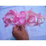 Vincha Con Flores De Tela Todos Los Colores!!! Hechas A Mano