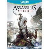 Assassins Creed Iii 3 Nintendo Wii U Nuevo Blakhelmet E