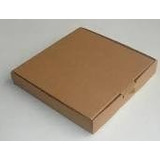 Caja De Pizza De 33 X 33 X 4 Cm. Marron
