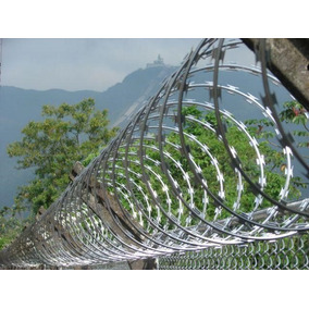 Concertina Cruzada De 45cm Seguridad Perimetral Doble (pua)