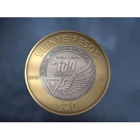 Moneda 20 Pesos Fuerza Aerea 2015 Capsula De Regalo