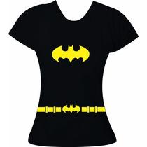 Baby Look Batgirl Super Herois Batman Moricato Blusa Feminin