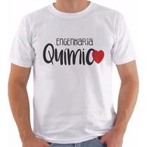Camiseta Curso Engenharia Química Masculinas Frete Grátis