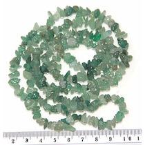 Cascalho Cristal Quartzo Verde Natural Teostone Colar 383