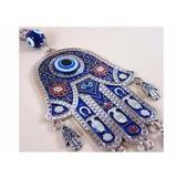 Amuleto Mão De Fátima - Mão De Deus - Hamsá Olho Grego