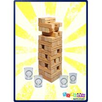 Torre De Beber Los Simpsons Con 4 Vasos Tipo Jenga 56 Bloque