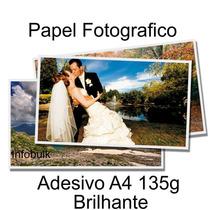 Papel Fotográfico Adesivo 100 Folhas A4 Prova D