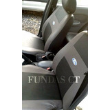 Funda Asiento Simil Cuero Logo Bordado Ford Focus 2
