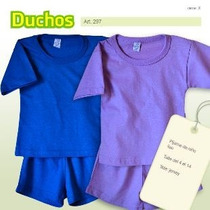 Pijama Niño Liso. Ideal Para Estampar. Talles 4-6-8-10-12-14