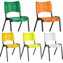 Cadeira Fixa Plastica Empilhável Escola Igreja Restaurante