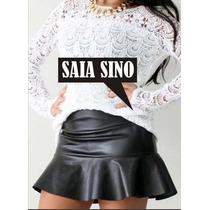 Saia Sino Courino/couro Sintetico/neoprene/lindas