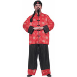 Adulto Halloween Traje Caballero Chino Masculino, 1 Tamaño