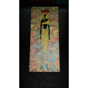 Mural Negra Africana...17 Cm X 40 Cm.san Isidro