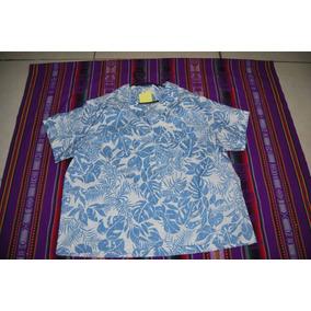 Camisa Hawaiana De Mujer Made In Usa C 1328