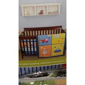 Edredon Para Cuna Set De 5 Piezas Nuevo Para Bebe Niño Bonit
