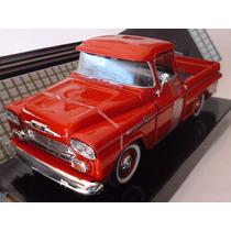 1958 Chevy Apache Escala 1/24 Metalica Motormax Roja