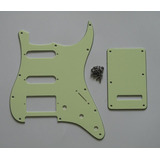 Pickguard Stratocaster Hss 11 Pernos, Color Mint Green