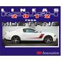 Lineas Calcomanias Roush Rs3 Para Mustang