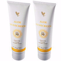 Kit 2 Aloe Sunscreen Forever Living Protetor Solar Fps 30